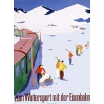 Eisenbahn Winter Sports Snow Ski Poster