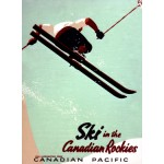 Canadian Pacific Snow Ski Rockies Poster